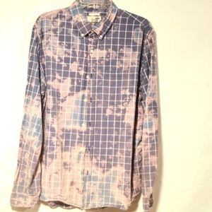 Tie Dye OLD NAVY Distressed Purple Shirt Button up